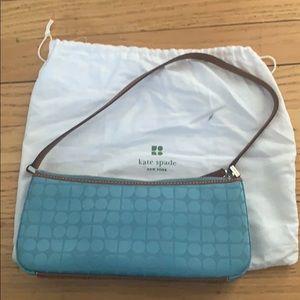 Kate Spade Geometric fabric and leather purse
